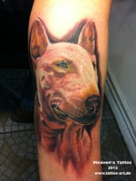 bull terrier tattoo